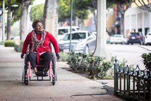 Woman in wheel chair